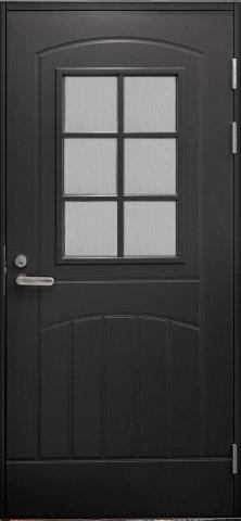 Входная финская дверь JELD-WEN F2000 W71 темно-серая
