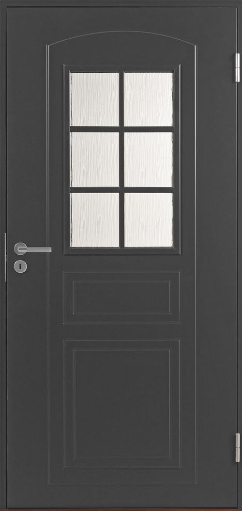 Входная финская дверь JELD-WEN Basic 0020 темно-серая