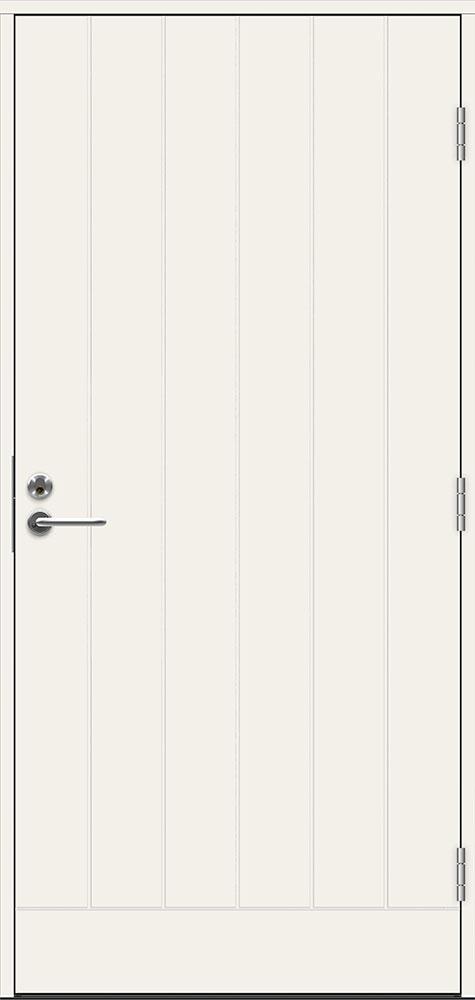 Входная финская дверь JELD-WEN ECO Barents белая